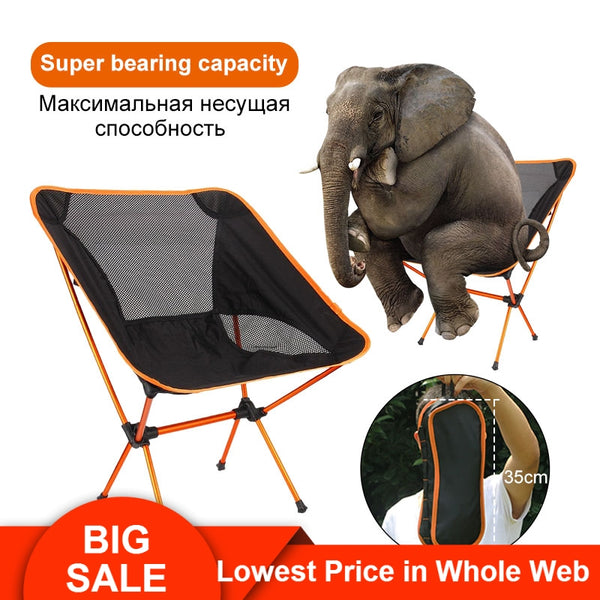 Portable Folding Fishing Chair Camping Chair Seat 600D Oxford Cloth Aluminium Fishing Chair for Outdoor Picnic BBQ Beach Chair