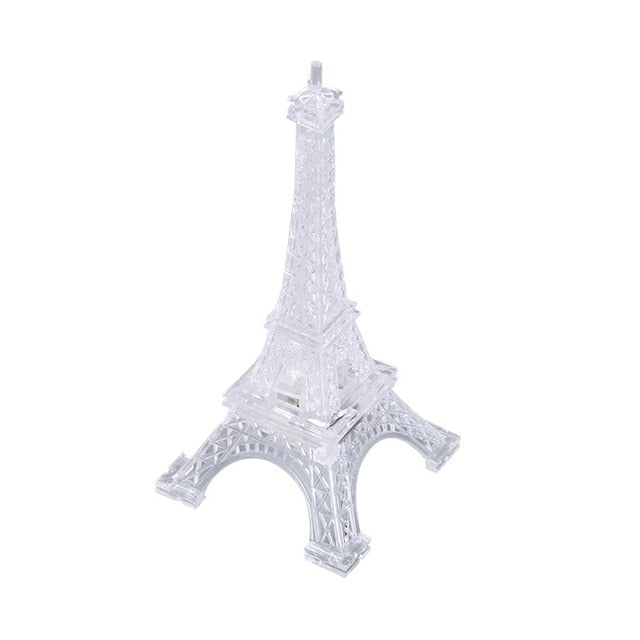 【Buy one get two】3D Romantic France Eiffel Tower/Paris Tower LED Night Light RGB Bedroom Table Lamp Kids Friends Family Gifts Home decoration