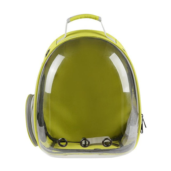 Portable And Durable Outdoor Capsule Ventilated Backpack With Visual Window Pets Bag Visual Window Pet Bag For Dog Cat