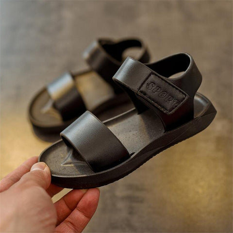 ULKNN sandals For Boys 2019 summer new children's sandal 1-6 years old simple  boy beach shoes black white shoe wholesale 21-25