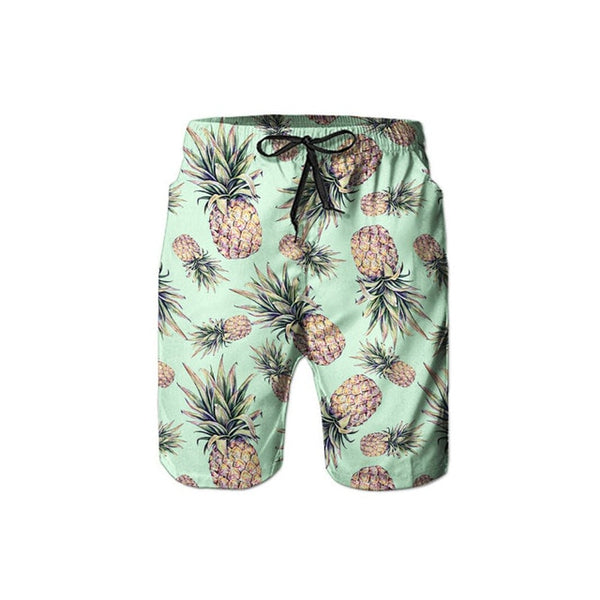 Men's 2 Pieces Set Hawaiian Shirts Shorts Pineapple 3d Print Mens Short Sleeve Hawaii Shirts Shorts Pants Two Piece Suit