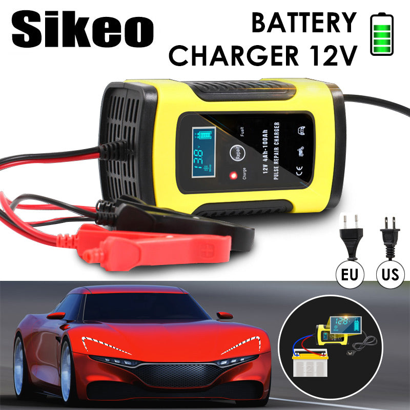 Automatic Car Lead Acid Battery Charger 110V-220V to 12V 6A Smart Fast Charging