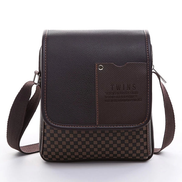 Vogue Star 2019 New hot sale PU Leather Men Bag Fashion Men Messenger Bag small Business crossbody shoulder Bags YK40-449