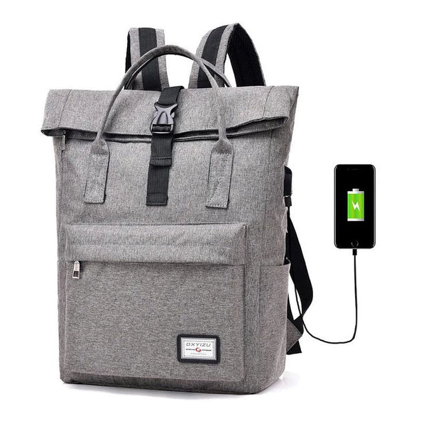 2019 Hot Sale Canvas Backpack Women School Bags for Girls Large Capacity USB Charge Men Laptop Backpack L50