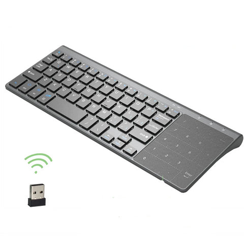 Zienstar 2.4G Wireless Mini  Keyboard with Touchpad and Numpad  for Windows PC,Laptop,Ios pad,Smart TV,HTPC IPTV,Android Box