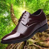 Men's Shoes Fashion England Men Leather Shoes Business Suit Formal Shoes Lace up Breathable