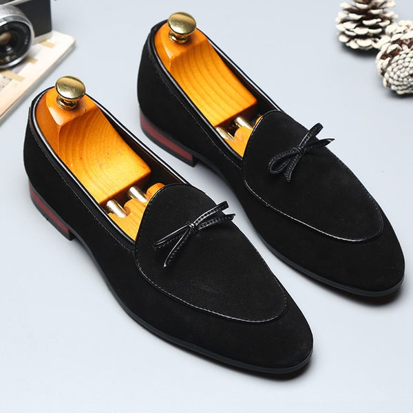Spring Men's Tassel Suede Loafers 2019 Italian Style Scrub Leather Slip-On Casual Men Shoes Gentleman Fashion Designer Shoes