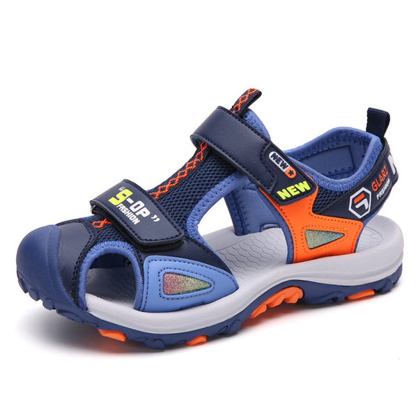 ULKNN Boy Sandals Children's Summer 2019 New Child Fashion Boy Baotou Slip Kid's Shoes Sandals size 27-38