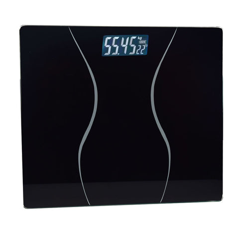 1pcs Telman Bathroom Glass Body Scale 0.01g Smart Household Electronic LCD Display Digital Floor Weight Balance Weighing 180 KG