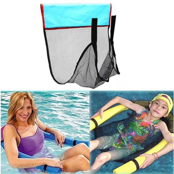 Kids Adult Polyester Floating Pool Noodle Net Sling Mesh Float Chair Net for Swimming Pool Party Swim Bed Seat Water Relaxation