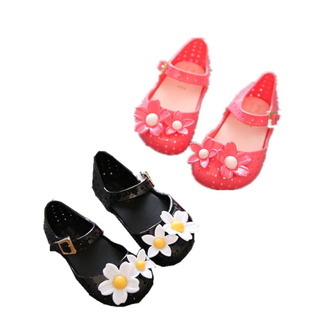 Sale !! New Lovely Flower Jelly Children's Shoes Korean Summer Soft Bottom Girl Sandals