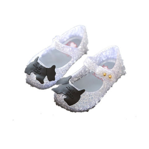 Sale ! Hot New Girl Baby Jelly Shoes Children's Shoes Sparkling Fretwork Shoes Sandals XZ0173
