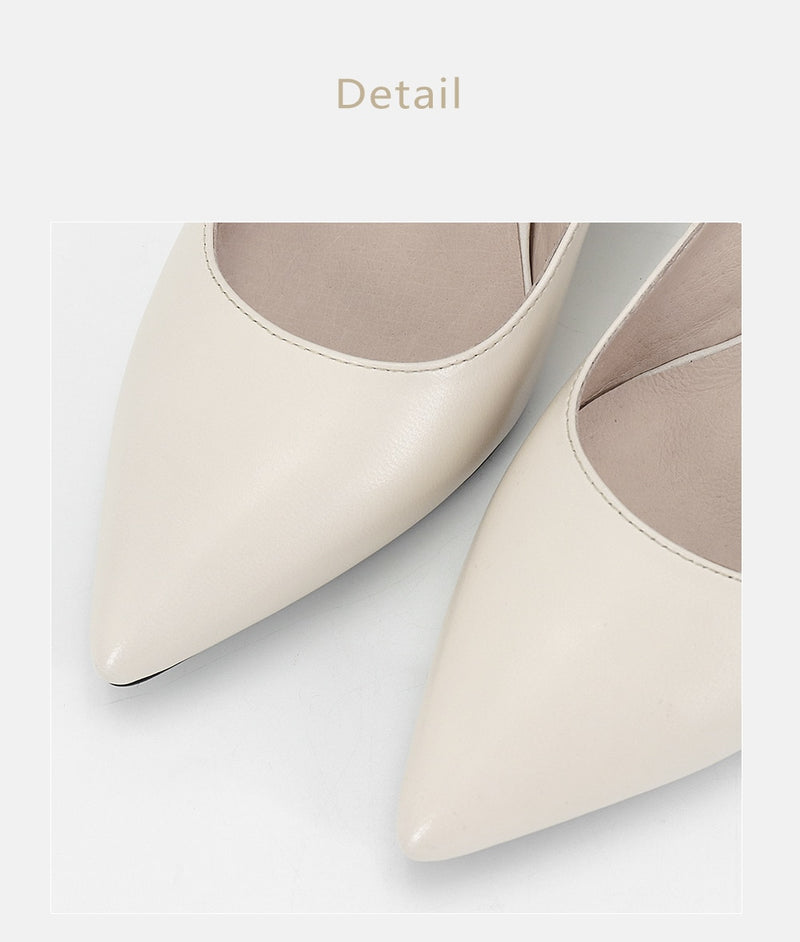 SOPHITINA 2019 Women's Pumps Genuine Leather Fashion High Square Heel Pointed Toe Party Spring Shoes Handmade Shallow Pumps A84