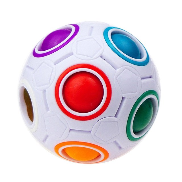 Spheric Ball Rainbow Magic Cube 3D Puzzle Twist Toy Brain Teaser Kids Gifts  Educational Toys Stress Reliever Drop shipping