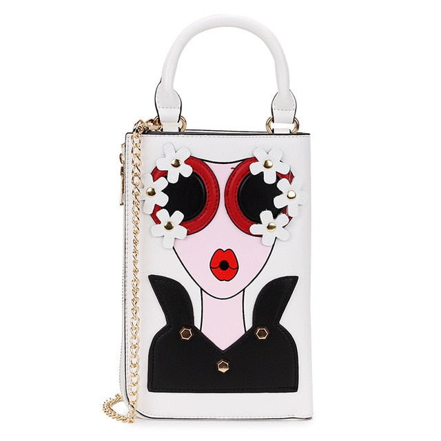 New Style Sexy Woman Fashion Pattern Earrings Decorated Female Totes Ladies Shoulder Bag Crossbody Messenger Bag Casual Handbag