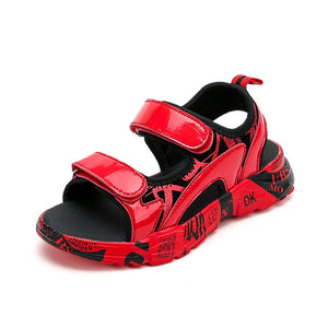 Boy's Sandals 2019  Children's New Summer Beach soft bottom Shoes Leather Fashion Sandals