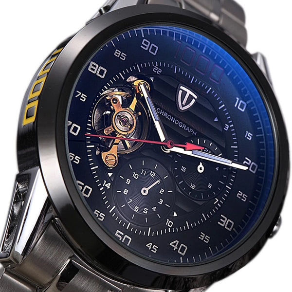 Men's Watches Tourbillon Mechanical Skeleton Watch Men Self-Wind Waterproof Male Clock Relogio Masculino