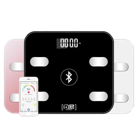 Bluetooth Scales Floor Body Weight Bathroom Scale Smart Backlit Display Body Weighing Body Fat Scale Water Muscle Mass BMI