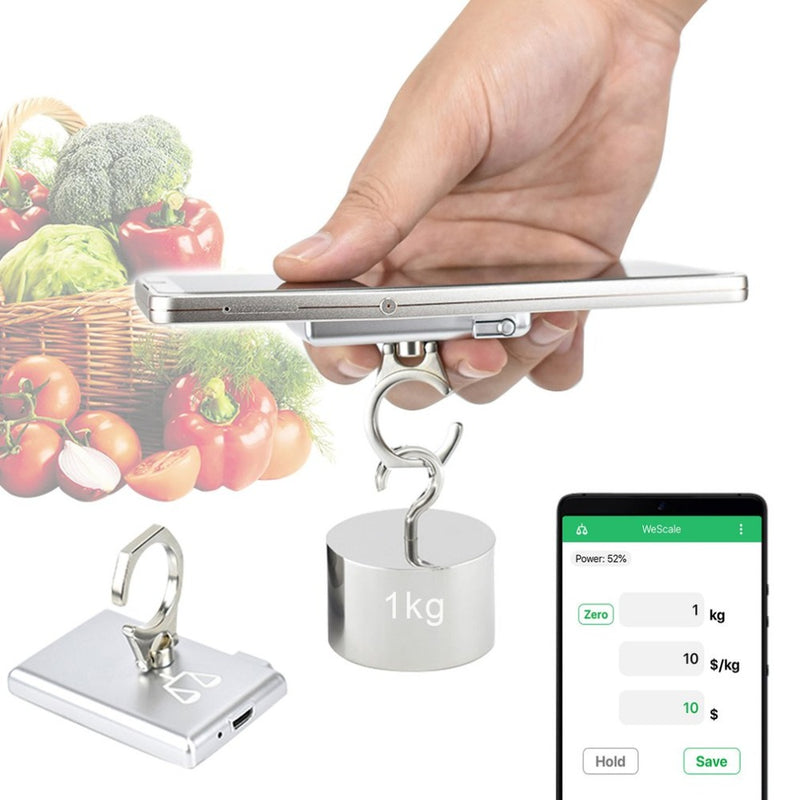 Smart Mini Hanging Scale Pocket 10kg Hanging Luggage Weighting Hook Scale Support Android 4.4 iOS 9.0 Above with Bluetooth 4.0