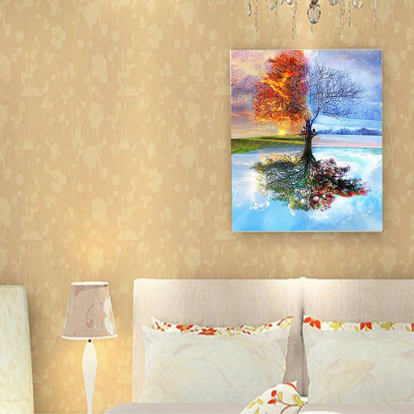 Home Scenery DIY Craft Frameless Art On Canvas Gift Paint By Number Decorative Dining Room Acrylic Oil Painting Set Office