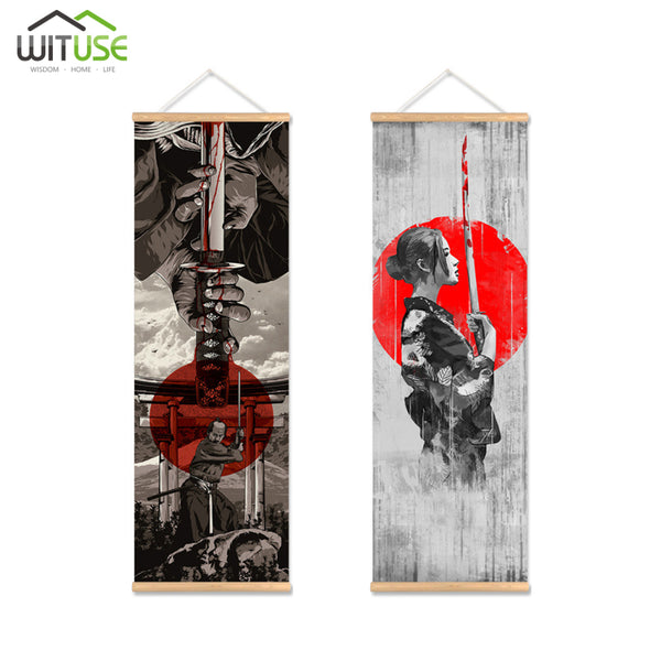 Japanese samurai Art Modern Home Wall Decor Canvas Picture Art HD Print Painting On Canvas Artworks Framework Ready to hang