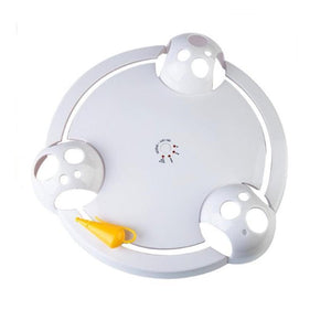 【HOT SALE】Pet Cat Automatic Rotating Mice Catch Plate Electric Interactive Teaser Toy for Cat Kitten Funny Training Toy Cat Products