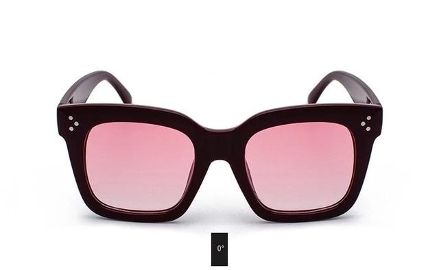Fashion Kim Kardashian Sunglasses Lad Flat Top Eyewear Lunette Femme Women Luxury Brand Sunglasses Women Rivet Sun Glasse