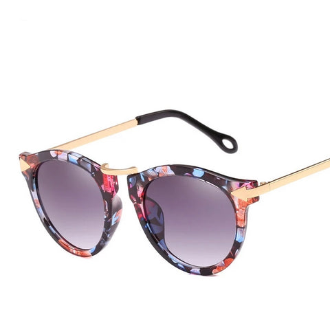 Cat Eye Sunglasses Women Luxury Brand Arrow Sun Glasses Vintage Shades For Woman Sunglass Ladies Flowers Sunglases