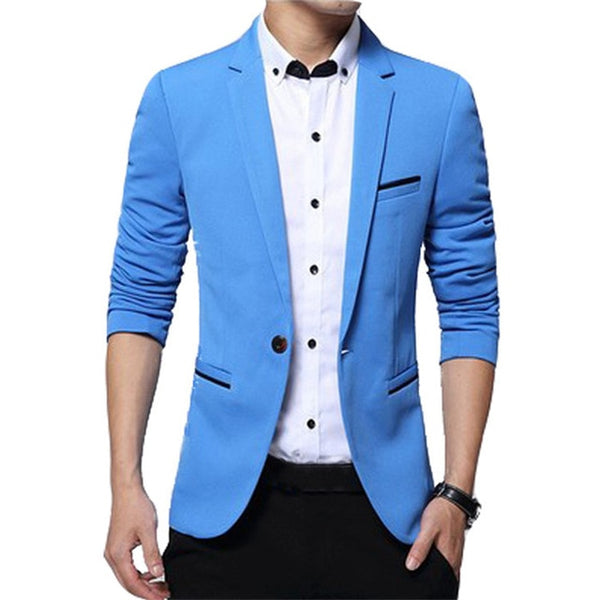 Mountainskin New Men's Blazer Solid Color Suit Spring Autumn High Quality Casual Coats Slim Fit Male Fashion Jackets SA649
