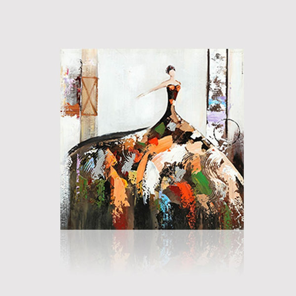 Oil Painting Pictures Canvas Painted Living Room Wall Art Home Decor YHPH57