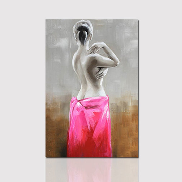 Oil Painting Pictures Canvas Painted Living Room Wall Art Home Decor YHPH6