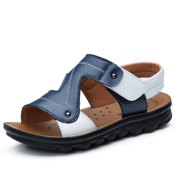Summer 2019 new sandals children's genuine leather children's  boys  beach shoes girl sandals