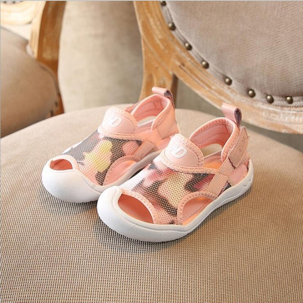 2019 summer children's shoes camouflage barefoot sandals men's mesh breathable casual girls sandals
