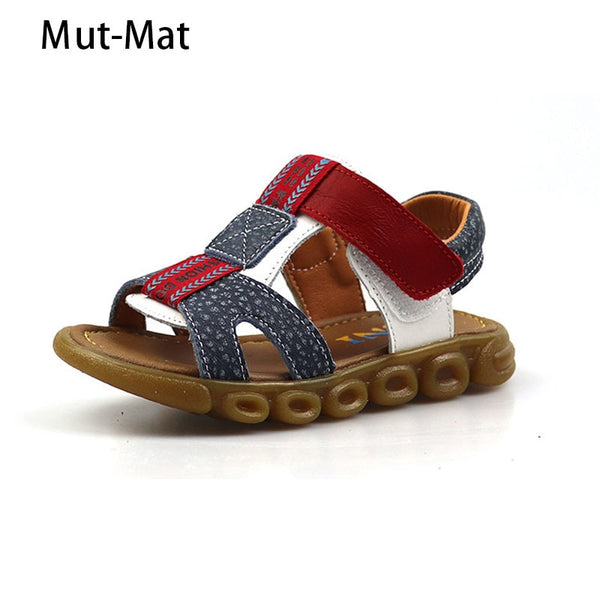 2019 summer new style genuine  leather children's beach shoes kids shoes baby shoes baby children tendon bottom boy sandals
