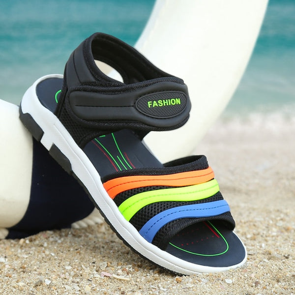 Mudipanda Summer 6 children's Open toe sandals boys Breathable shoes 8 Kids big baby10 primary school students beach daily shoes