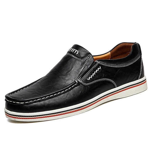 New Brand Oxfords Shoes Men's Genuine Leather Casual Shoes Men Spring Autumn Men's Shoes Slip-On Solid Men Flat Shoes