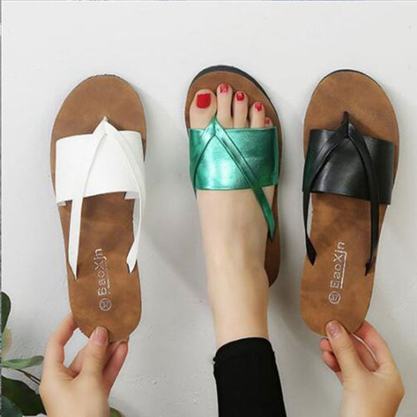 TANGNEST Womens Tstrap Sandals 2019 Summer Outdoor Slippers Fashion Flip flops Beach Slippers Casual Flat Summer Shoes 9 XWT1801