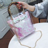 Summer 2019 Small Handbag Transparent Women Hand Bags Chain Straw bag Lady Travel Beach Shoulder Cross Body Bag Holiday