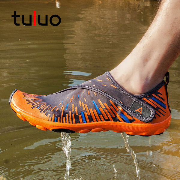Summer Water Shoes Men Barefoot Breathable Cool Quick Dry Non Slip Beach Swimming Male Sneakers Men's Aqua Shoes Plus Size