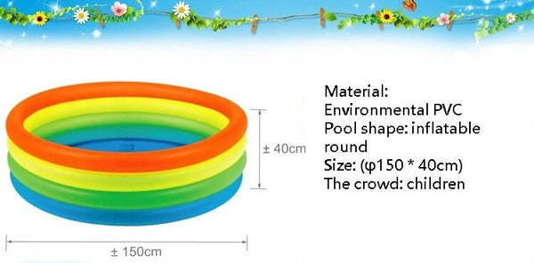 Environmental inflatable swimming pool, wading pool rainbow of Victoria, portable outdoor children's swimming PVC Products