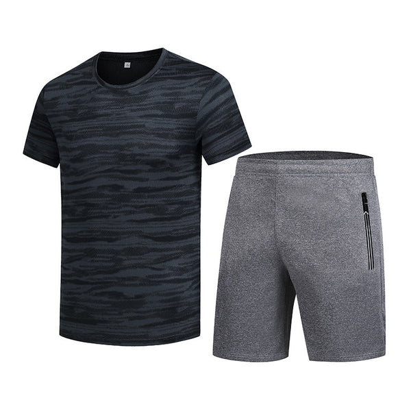 Men's Sets Fitness Male Suits New Summer 2 Pieces Sets Short SleeveT Shirt + Shorts Sportswear Tracksuits Plus Size 5XL 6XL