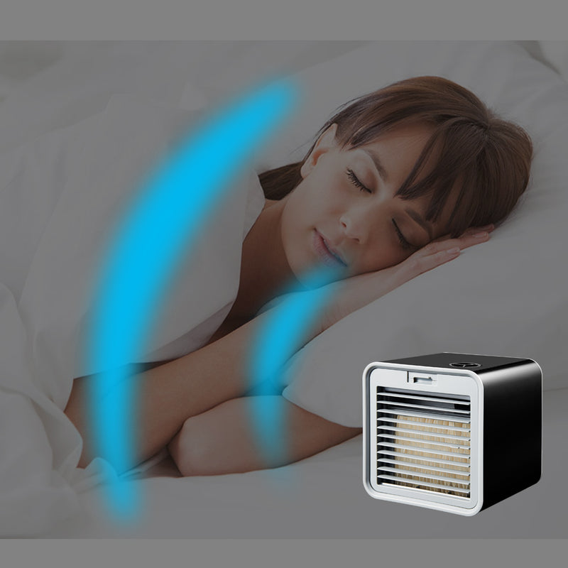 Eworld New Portable Mini  Air Conditioner Humidifier Air Cooler Space Easy Cool Purifies Big Wind Fan for Home Office Desk