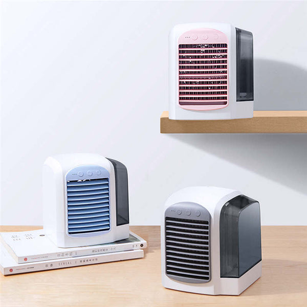 Portable Mini Air Conditioner Cool Cooling For Bedroom Cooler Wind Adjustable Summer Paper Fans