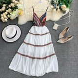 2019 new fashion women's dresses National style harness dress