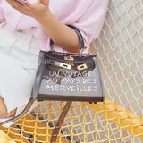 Transparent Cross-body Fashion Handbag