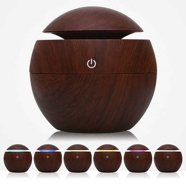 USB Aroma Essential Oil Diffuser Cool Mist Humidifier Air Purifier 7 Colors LED Lamp for Office Home
