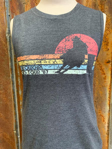 TIPSY COWGIRL WORLD TOUR MUSCLE TANK