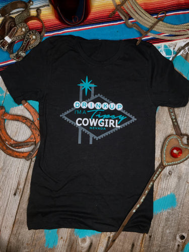 DRINK UP COWGIRL Vegas Tee
