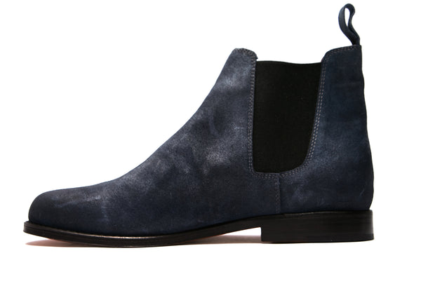 Jamie Boots Blue Distressed (42)