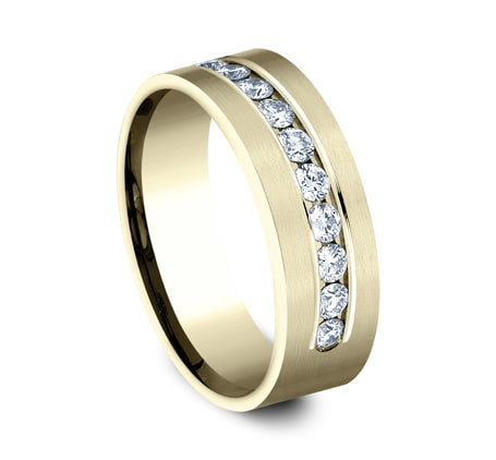 8mm Yellow Gold Men's Wedding Band